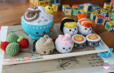 Bento Family Amigurumi Food Crochet Pattern This is the pattern only, not a Finished Amigurumi. This tutorial contains 8 patterns in a single file:
