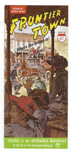 Vintage Frontier Town Brochure, North Hudson, NY, Adirondack Mountains,NY