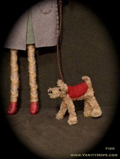 pipe cleaner pet dog miniature dollhouse dolls