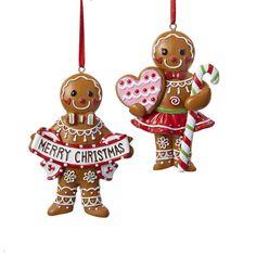 """3.75"""" #GINGERBREAD BOY/GIRL W/ICING ORNAMENTS #gingerbreadornaments"""