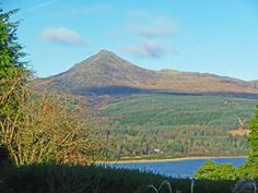 the amazing view from Woodlea - Self Catering Accommodation lsle of Arran, Scotland Isle Of Arran, Mount Rainier, Catering, Scotland, Mountains, Amazing, Travel, Viajes, Catering Business