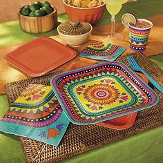 Fiesta Cinco de Mayo Party Tableware.