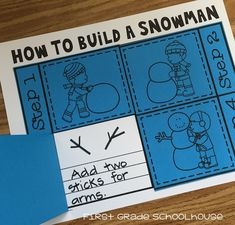 How to Build a Snowman  We'll have a unit on winter when we return to school in January. Although it doesn't snow where we live the students still enjoy talking about snow activities. We read snowman stories and learn about building a snowman. Here's a fun and engaging snowman activity that you can use in the classroom. It's called How to Build a Snowman.  The students draw and write about the steps in building a snowman. It's a simple and quick prep activity. Follow up by having your…