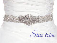 LENA crystal wedding bridal sash belt by startrim on Etsy, $125.00