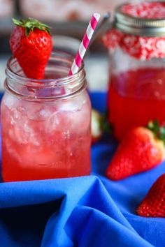 Strawberry Rhubarb Italian Sodas (and Margaritas!)