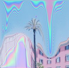 Glitch photography in pastel hues.
