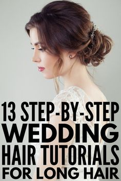 Here Comes The Bride: 45 Wedding Hairstyles for All Hair Lengths 13 Wedding Hairstyles for Long Hair Diy Wedding Hair, Short Wedding Hair, Wedding Hairstyles For Long Hair, Wedding Stuff, Hair Tutorials For Medium Hair, Medium Hair Styles, Short Hair Styles, Romantic Hairstyles, Down Hairstyles