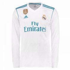 bf93c0e73 Real Madrid Hjemmebanetrøje 17-18 Lange ærmer  Billige Fodboldtrøjer Adidas