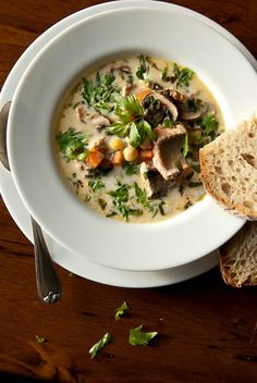 This Lovage Salmon Chowder recipe is the perfect weeknight meal.