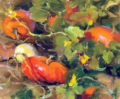 "Gay Faulkenberry ""Heirloom Pumpkins"" 10"" x 12"" Oil $1900 Available at Oh-Be-Joyful Gallery in Crested Butte, CO"