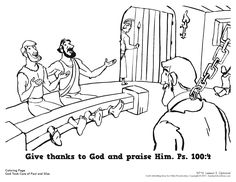 bible coloring pages about acts 16 | Paul and Silas in prison (Acts 16) coloring pages - Google ...