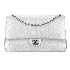 Authentic Chanel Large Classic Flap Bag Metallic Calfskin Item A91169  Y60583 45002 Made in France d1784ce37e9bb