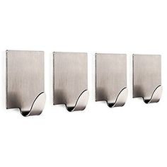 304 Stainless Steel 3m Self Adhesive Hook Hat Key Rack Bathroom Kitchen Towel Holder Hanger Wall Mount Stick On Sticky Hanger Factories And Mines Bathroom Fixtures Towel Rings