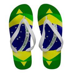 Brazilian Flag Flip-Flops