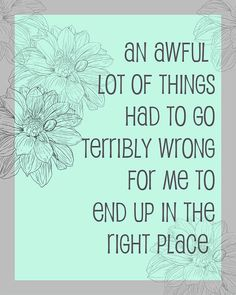 An Awful Lot of Things Had to Go Terribly Wrong by AtticDestash, $12.00