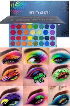 Rainbow Palette, Glow Palette, Eye Palette, Eyeshadow Palette, Rainbow Colors, Rainbow Eye Makeup, Rainbow Face, Colorful Eye Makeup, Makeup Blog