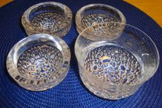 4 deler fra Svalbard serien - Hadeland glassverk Punch Bowls, Serving Bowls, Decorative Bowls, Black And White, Interior Design, Tableware, Glass, Vintage, Home Decor