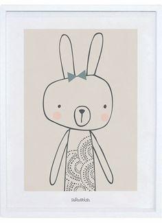 affiche-cadre-lapin-dessin-beige-fille-chambre-bebe-enfant-lilipinso-P0128C-IMG02.jpg 600×827 pixels