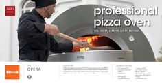 Opera is the biggest professional wood fired and gas powered oven in the Alfa Pro range. Available in wood or gas versions, this device is perfect for those who want a professional oven that offers traditional wood fired oven flavour. Its light weight and stainless steel dome enable you to save on fuel costs.  #pira #charcoalovens