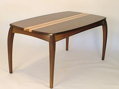 This walnut and birds-eye maple desk/dining table bears the Cabrio name because it's my take on the classic Cabriole-style of yore. Vintage Furniture Design, Chair Design Wooden, Living Room Sofa Design, Living Room Designs, Living Rooms, Wooden Dining Tables, Dining Table Chairs, Coffee Table Design, Coffee Tables