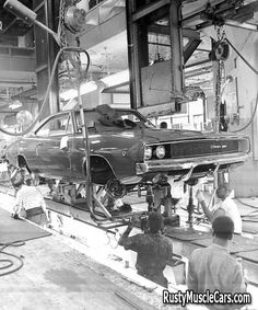 68 Dodge Charger on the assembly line | Rusty Muscle Cars