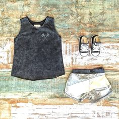 Toddler Boys Clothes ~ Children of the Tribe 'no sense' singlet, board shorts & Converse kids sneakers [shop link below] www.tinystyle.com.au