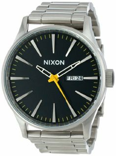 Nixon Men's Sentry Sterling Silver Watch One Size Blue: Watches: Amazon.com