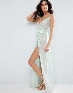 Пляжное платье макси с запахом ASOS
