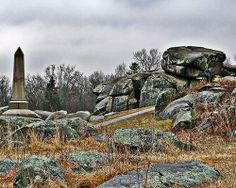 """Devil's Den, Gettysburg National Battlefield - The home of the bloodiest battle during the Civil War, reported to be haunted by a ghost known as """"The Hippie"""" that has spoken to visitors to the park. Also reported are equipment malfunctions."""