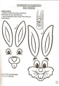 Easter craft - Page 342 Easter Bunny Template, Easter Templates, Bunny Templates, Easter Printables, Easter Activities, Easter Crafts For Kids, Preschool Crafts, Fun Crafts, Paper Crafts