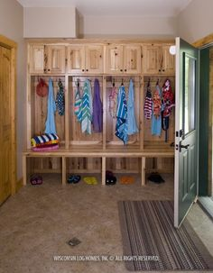 mudroom ((this is awesome... except I have those pesky breaker boxes that we need to have access to!))