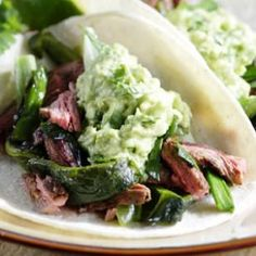 Healthy Cinco de Mayo -- Poblano & Skirt-Steak Fajitas: This variation on fajitas pairs fresh poblanos with steak and scallions. Skirt-steak has fabulous flavor but tends to be chewy, so slice it thinly across the grain. Healthy Steak Recipes, Beef Recipes, Mexican Food Recipes, Ethnic Recipes, Grilling Recipes, Mexican Meals, Mexican Dishes, Sweets Recipes, Recipies