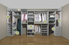 Man and womans fitted wardrobe storage