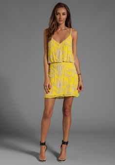 YUMI KIM Elsa Dress in Abstract Yellow at Revolve Clothing - Free Shipping!
