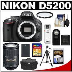 Nikon D5200 Digital SLR Camera Body (Black) with 18-300mm VR Zoom Lens + 32GB Card + Case + Battery + Filter + Tripod + Accessory Kit - http://electmecameras.com/camera-photo-video/digital-cameras/digital-slr-camera-bundles/nikon-d5200-digital-slr-camera-body-black-with-18300mm-vr-zoom-lens-32gb-card-case-battery-filter-tripod-accessory-kit-com/