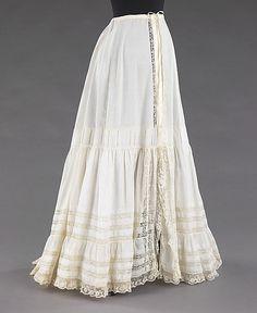 Petticoat, 1900-1905 (American), linen? (Metropolitan Museum 1900-1905)