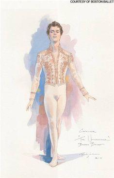 Cavalier costume design from Boston Ballet's The Nutcracker