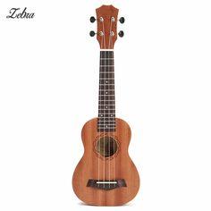 Zebra 21'' 4 Strings Rosewood Soprano Ukulele Guitar Brown Sapele Rosewood 15 Frets Guitar For Musical Instrument Lover Beginner
