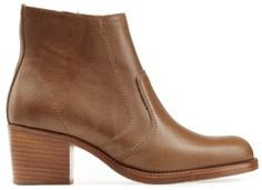bottines en cuir marron, A.P.C