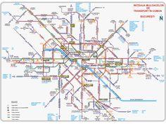 Bucharest transit map