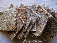 Tons of Paleo Cracker Recipes and scones, cookies n cakes