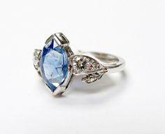 Heavenly blue #sapphire #diamond #wedding