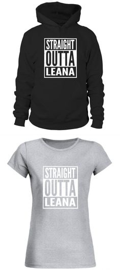 44d22a7d7 Customised t-shirt for men with leanna leana - straight outta leana  customised woman's t