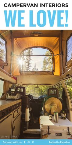 This gives me so many ideas for my next van build!! I love the cozy fireplace in the sprinter van, so many cool interior conversions in here. #vanlife via @parkedinparadise