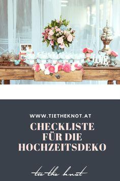 Die große Checkliste für die Hochzeitsdeko