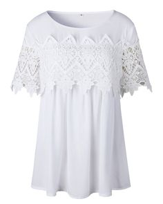 95e223a66e4 Maternity Outfits - designer maternity leggings   BBYES Women Summer Plain  Lace Short Sleeve Tunic Top