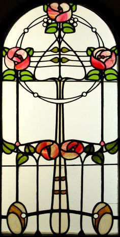 Art Nouveau style stained glass window :: by Róth Miksa (Hungarian, 1865-1944)