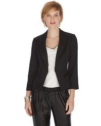 Cropped Black Tux Jacket