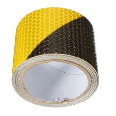 New Arrival Black Yellow Reflective Safety Warning Conspicuity Tape Film Sticker 300cm x 5cm Warning Tapes Security Protection