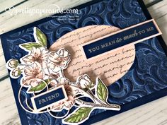 Stampin' Up! Card Making Inspiration, Making Ideas, Paris Cards, Pink Cards, Friendship Cards, Stamping Up Cards, Cards For Friends, Pretty Cards, Flower Cards